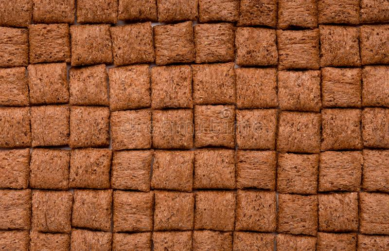 Les oreillers de céréale aiment la barre du chocolat photographie stock libre de droits