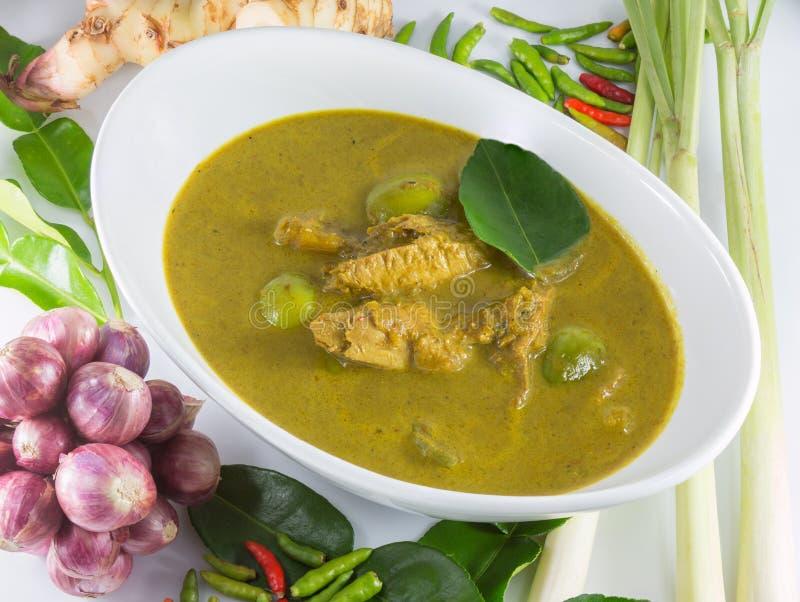 Les organes de poissons acidifient la soupe, nourriture thaïlandaise images stock