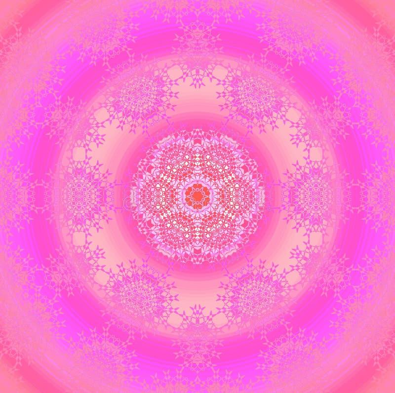 Les ornements sans couture de cercle concentrique avec des dentelles dentellent le magenta violet illustration de vecteur