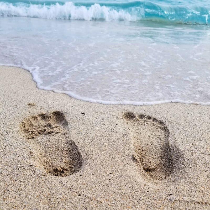 Les orteils dans le sable photos libres de droits