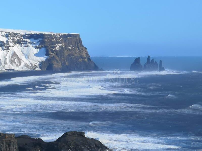 Les orteils de Troll de roche, Islande photographie stock