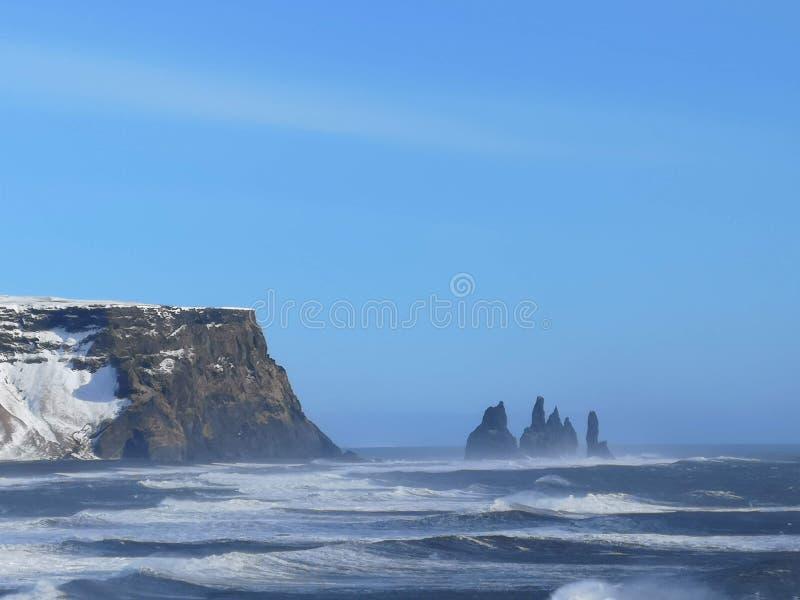Les orteils de Troll de roche, Islande images stock