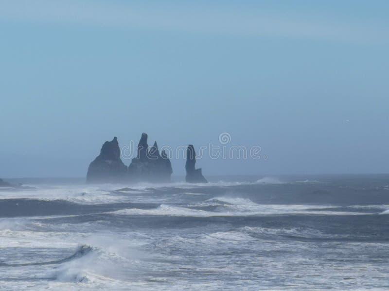 Les orteils de Troll de roche, Islande photographie stock libre de droits