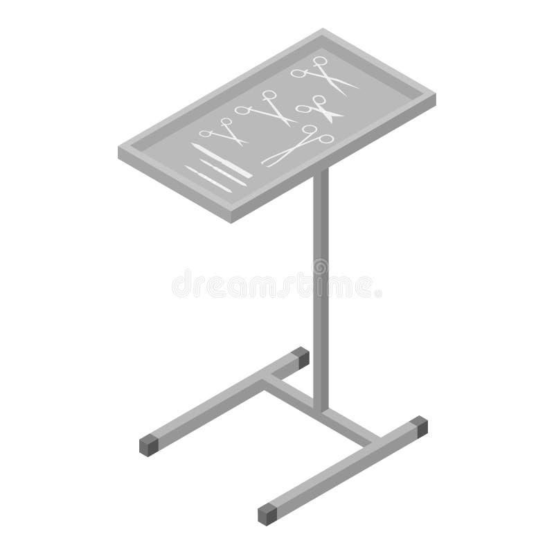 Les outils chirurgicaux tiennent l'icône, style isométrique illustration libre de droits