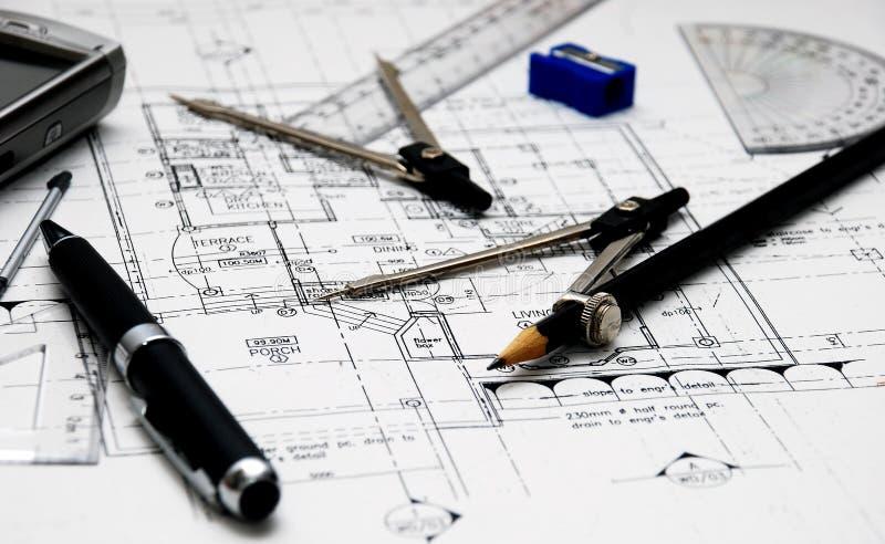Les outils de l 39 architecte image stock image du ing nieur for Outils architecte