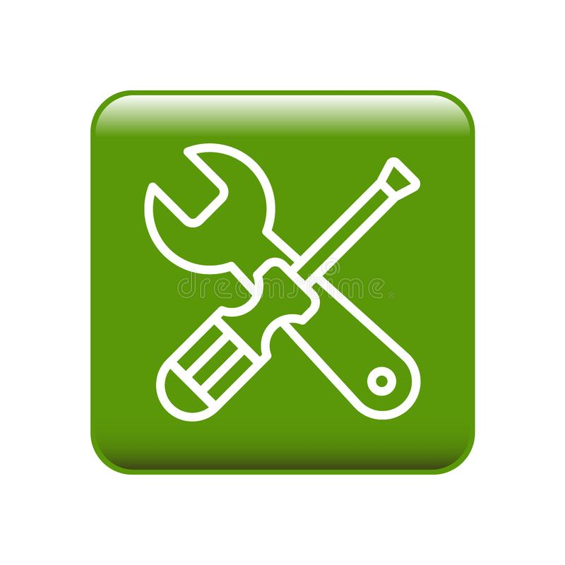 Les outils entretiennent l'icône d'arrangements illustration stock
