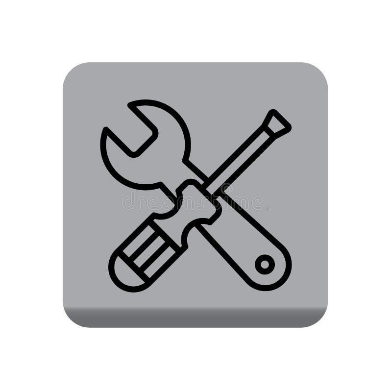 Les outils entretiennent l'icône d'arrangements illustration de vecteur