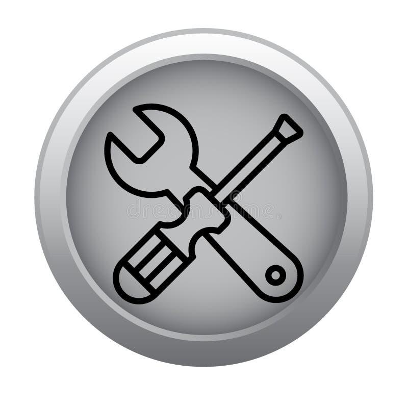 Les outils entretiennent l'icône d'arrangements illustration libre de droits