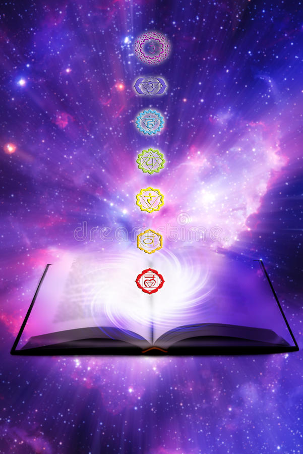 Les over chakraenergie royalty-vrije illustratie