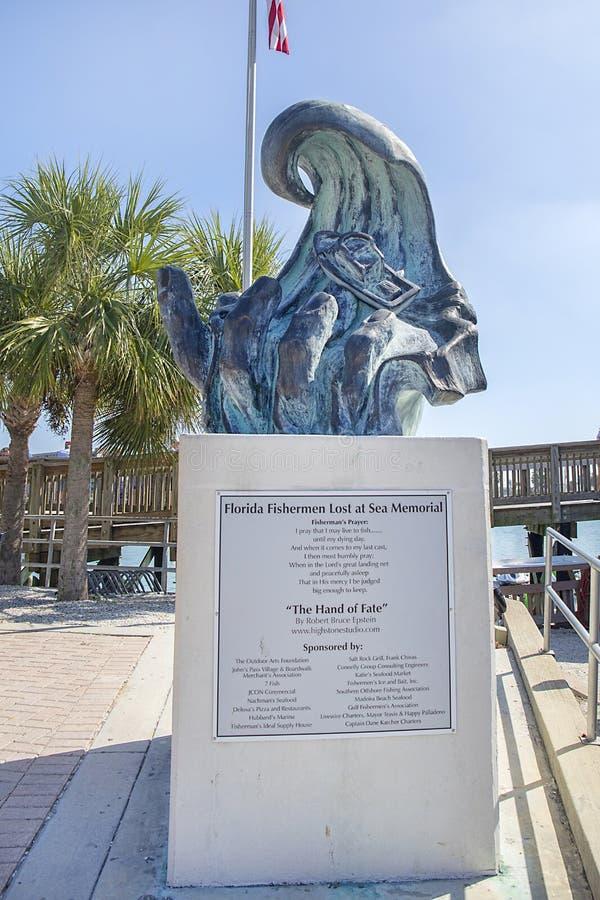 Les pêcheurs de la Floride ont perdu au mémorial de mer au passage du ` s de John photo libre de droits