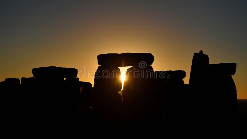 Les païens marquent Autumn Equinox chez Stonehenge photographie stock libre de droits
