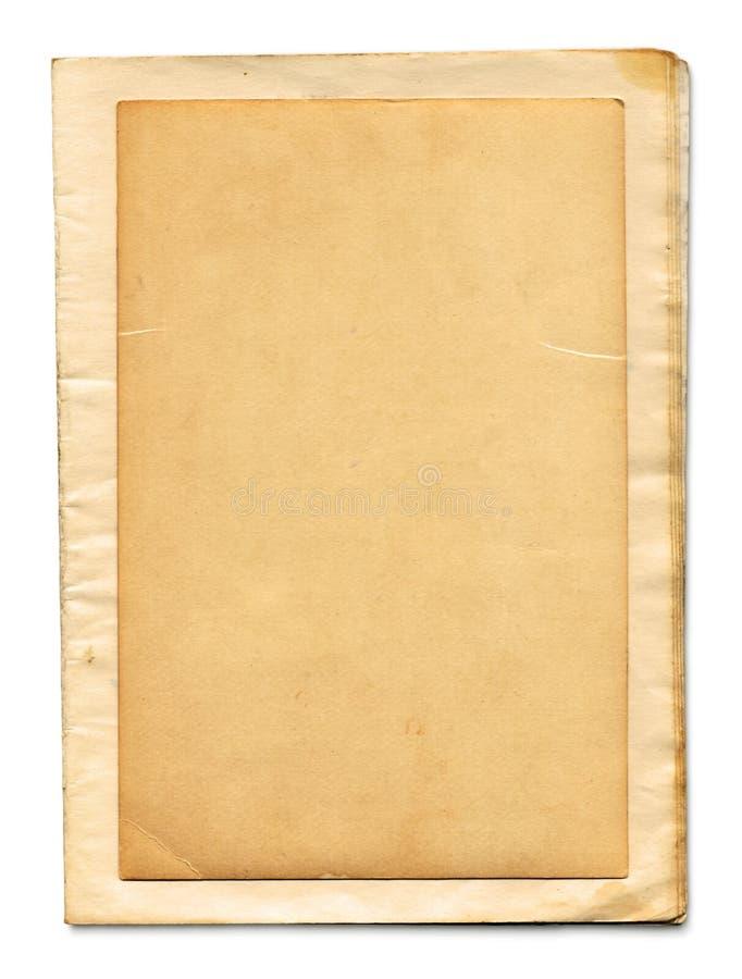 Les pages de vieux livre (chemin de +clipping, XXL) photo libre de droits
