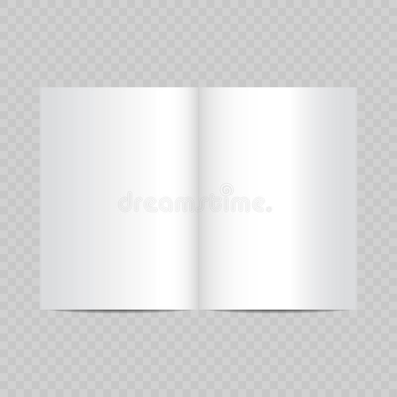 les pages vides de magazine ouvert dirigent réaliste blanc illustration libre de droits