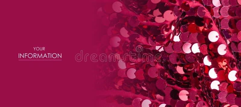 Les paillettes roses fa?onnent le mod?le d'?clat de tissu photos libres de droits