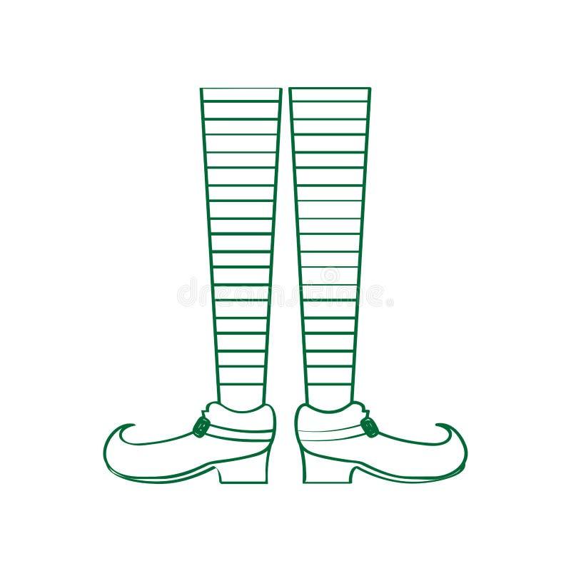 Les paires de elven des jambes illustration libre de droits