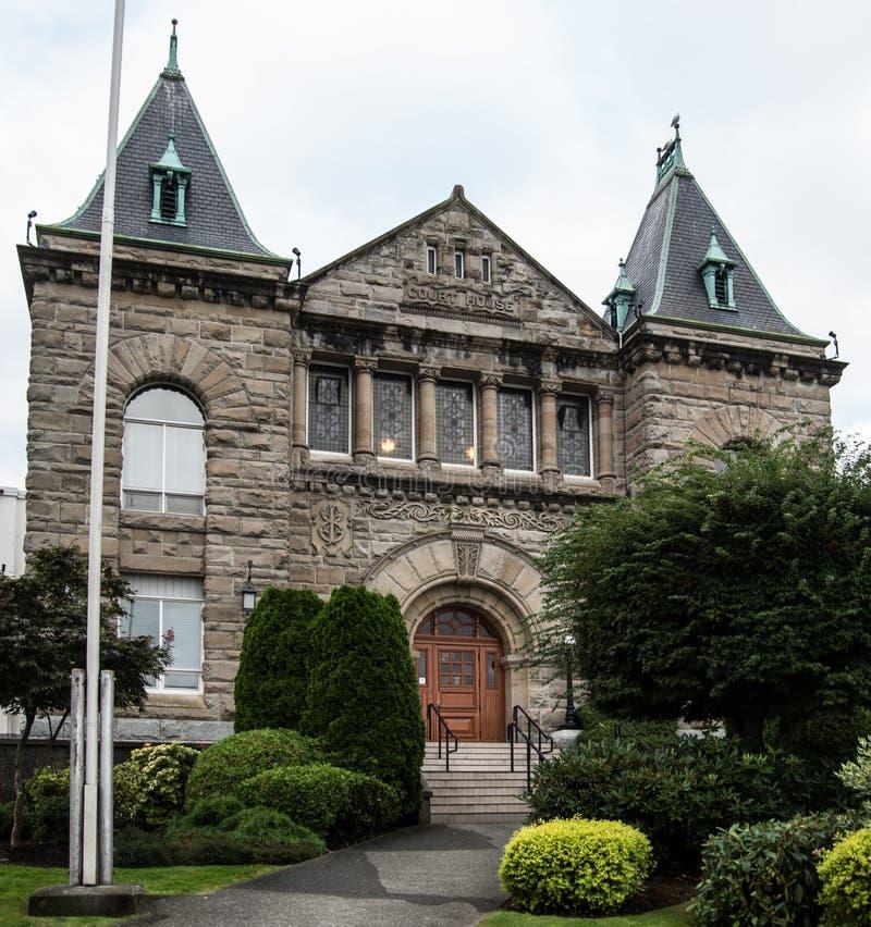 Les palais de justice de Colombie-Britannique chez Nanaimo photos stock
