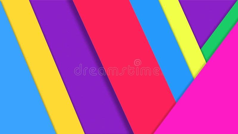 Les papiers abstraits de couleur donnent une consistance rugueuse pour le fond géométrique images stock