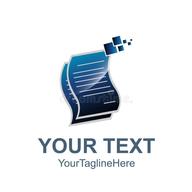 Les papiers empilés dirigent l'illustration plate de style d'icône pour le Web, mobi illustration de vecteur