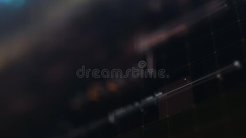 Les particules olographes futuristes de couronne de Sun se dirigent vers le haut de l'affichage illustration de vecteur