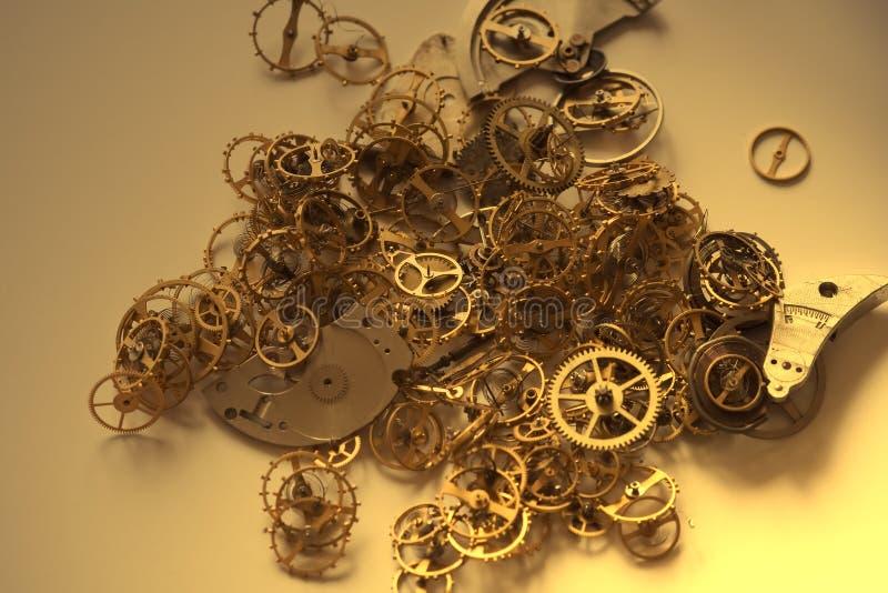Les parties de la vieille horloge - I photos stock