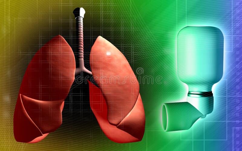 les patients de poumons d'inhalateur d'asthme ont utilisé illustration de vecteur