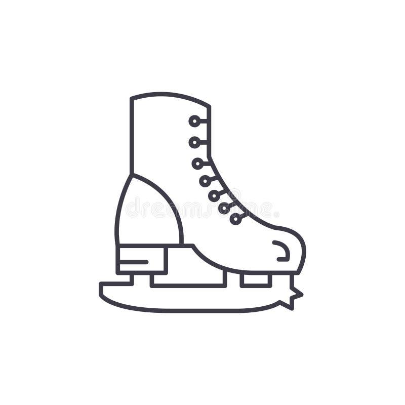 Les patins rayent le concept d'icône Les raies dirigent l'illustration linéaire, symbole, signe illustration de vecteur