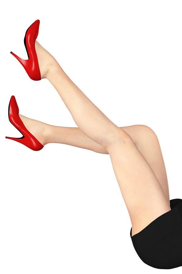 Les pattes de la belle femme illustration de vecteur