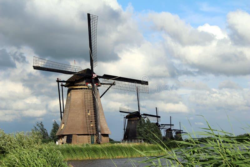 Les Pays-Bas, moulins à vent Kinderdijk photo stock