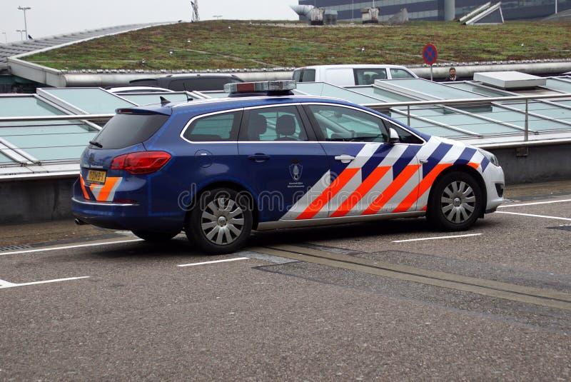 Les Pays-Bas royaux Marechaussee, police militaire néerlandaise, voiture photo stock