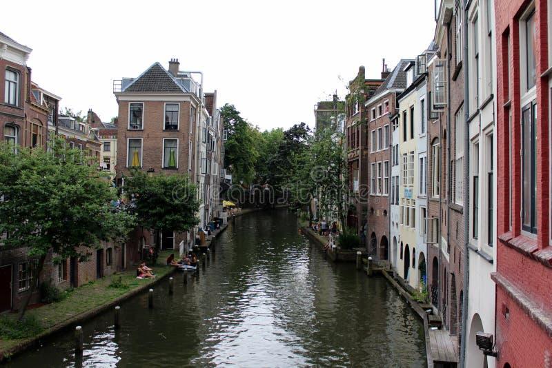 Les Pays-Bas, Utrecht, canal photo libre de droits