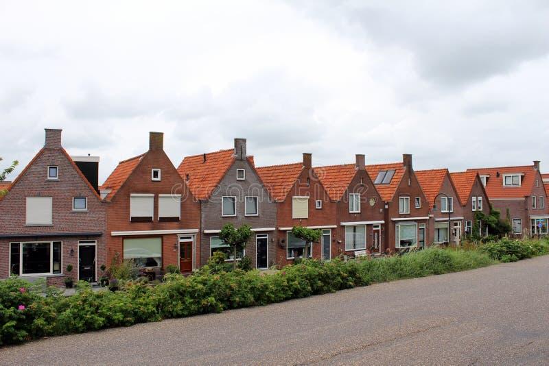 Les Pays-Bas, Volendam, bâtiments typiques photos stock