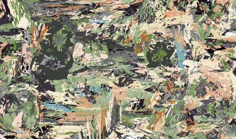 Les peintures colorées enduites par imitation de fond sur le mur illustration stock