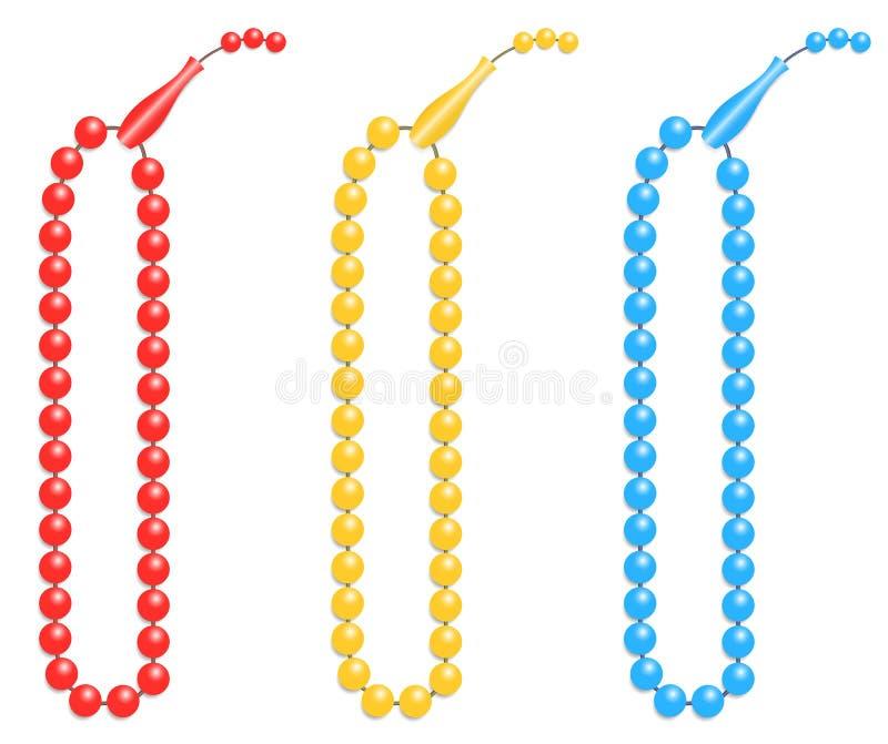 Les perles de prière islamiques illustrées comme vecteur conçoivent illustration de vecteur