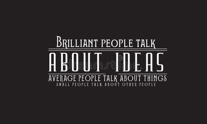 Les personnes brillantes parlent des idées illustration libre de droits
