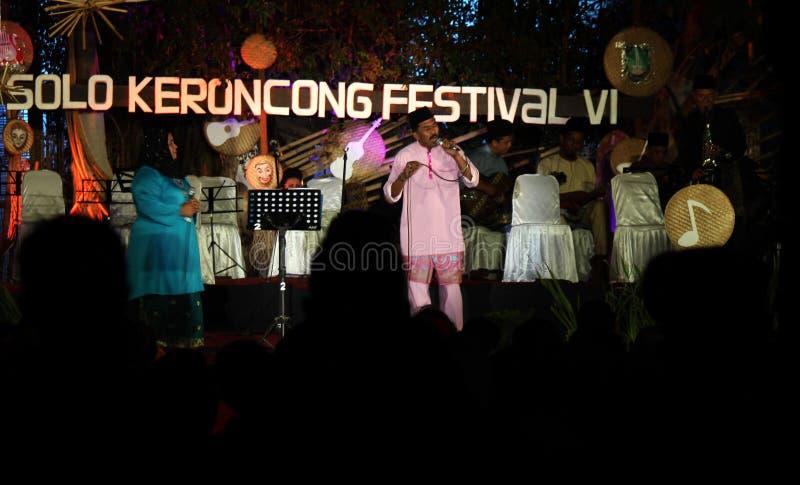 Les personnes de la Malaisie ont également participé au keroncong de festival photo stock