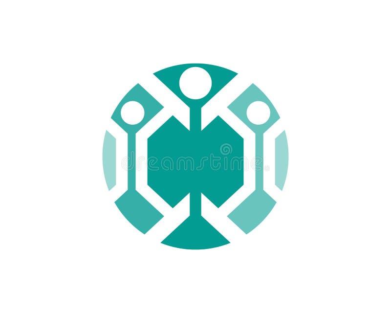 Les personnes de succès de santé s'inquiètent le calibre de logo et de symboles illustration de vecteur