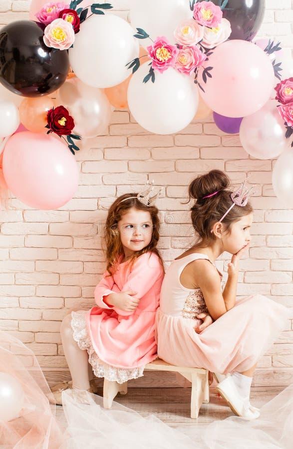 Les petites princesses mignonnes images libres de droits