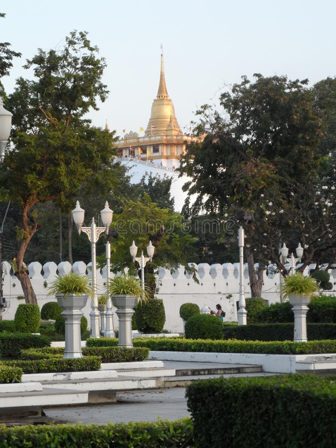 Les photos de parc de jardin à Bangkok, Thaïlande là sont beaucoup d'endroits intéressants thaïlandais et touristes étrangers Ven photo stock