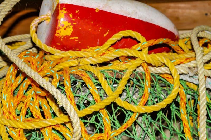 Les pièges colorés de crabe du nord-ouest Pacifique photos libres de droits