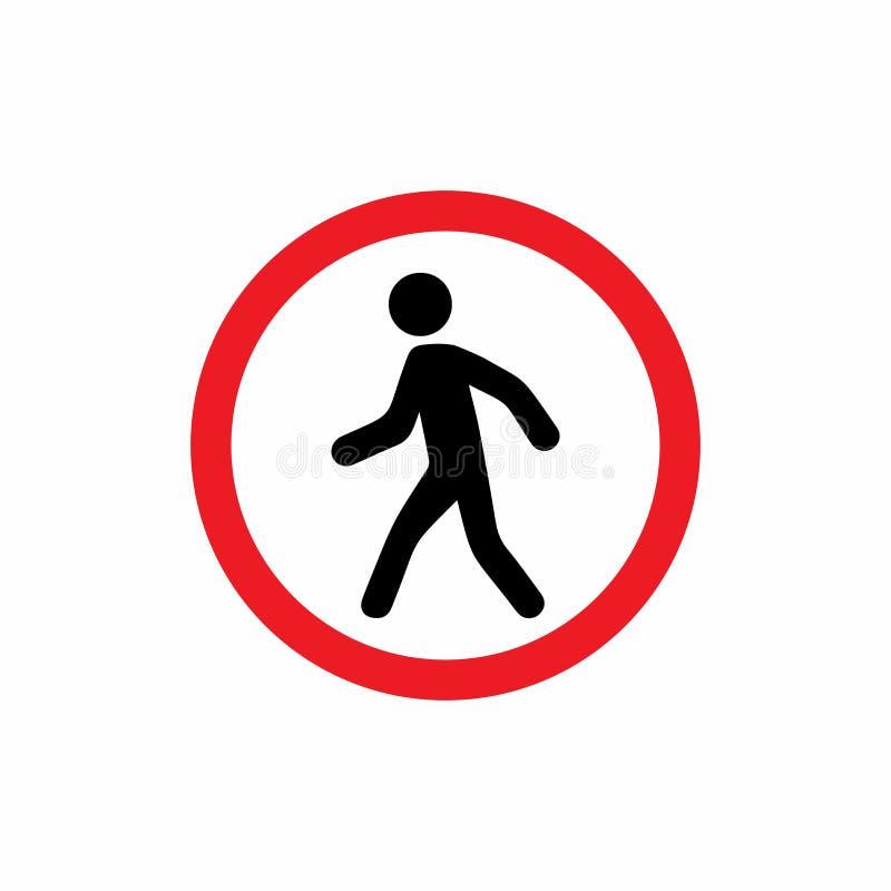 Les piétons ont interdit la conception de vecteur de signe illustration libre de droits
