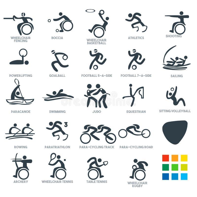 Les pictogrammes d'icône ont placé l'illustration de 6 vecteurs illustration libre de droits