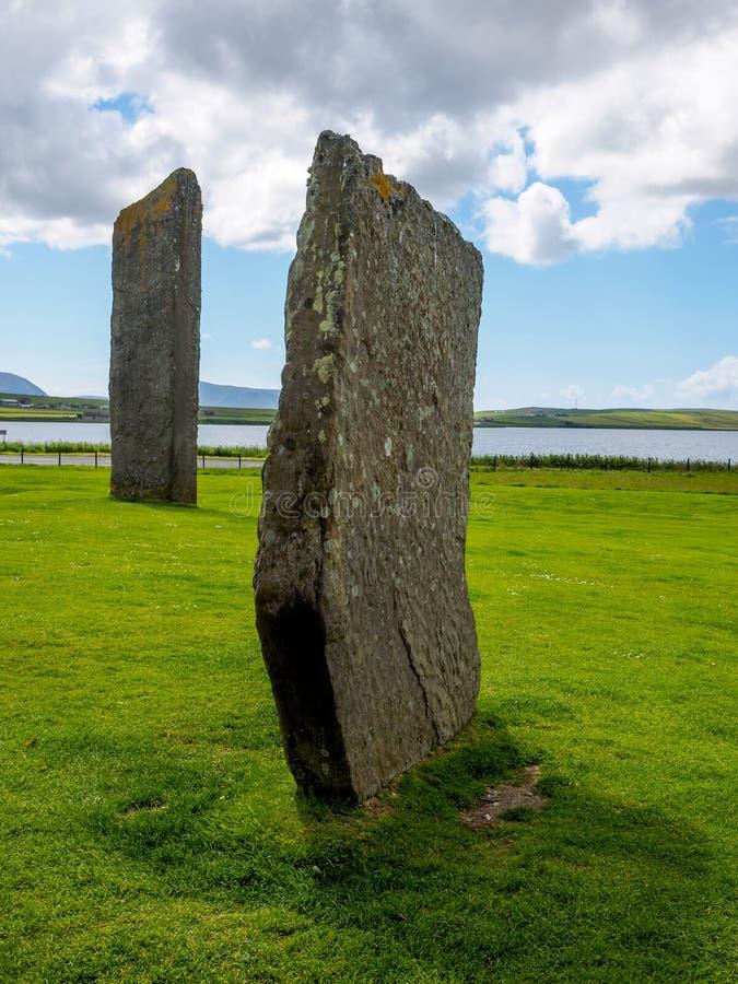 Les pierres debout antiques de Stenness image stock