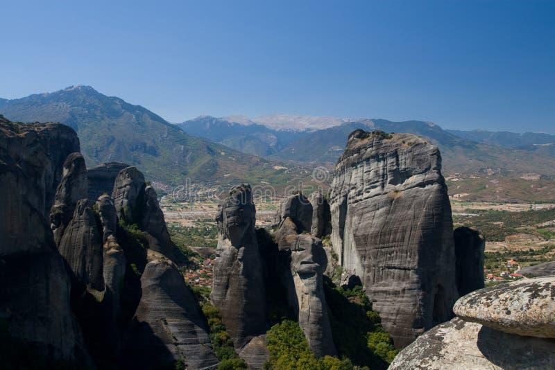 Les Pierres Grandes De Meteora Images stock