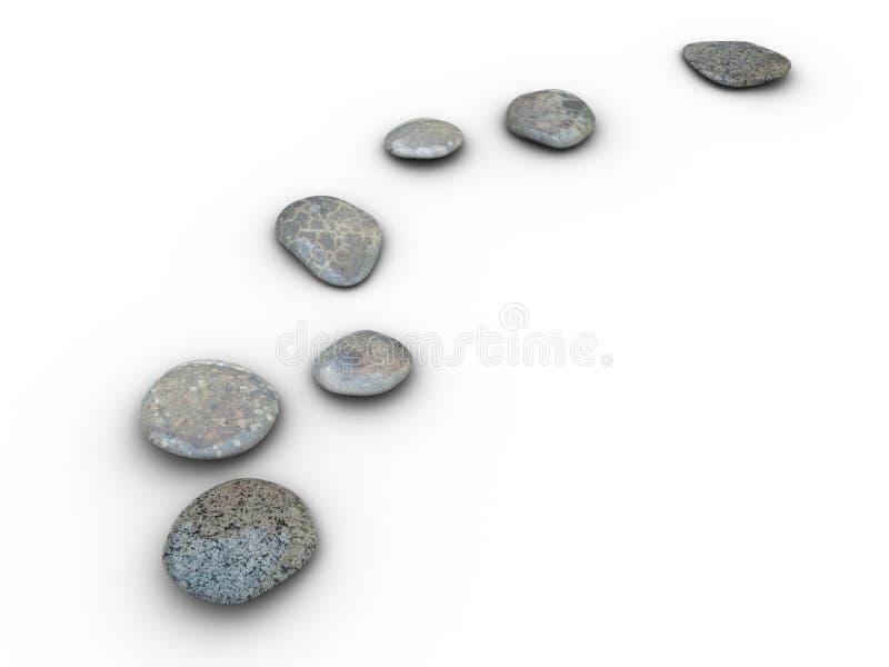 Les pierres ont aligné 2 illustration stock