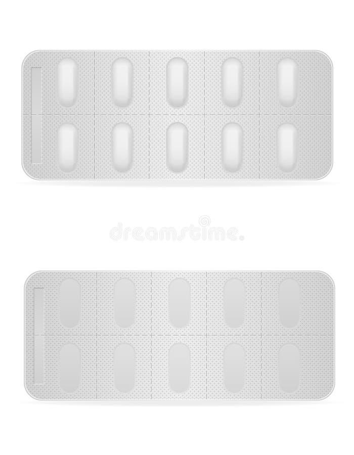 Les pilules médicales en paquet pour le traitement dirigent l'illustration illustration stock