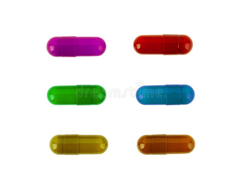 Les pilules médicinales ont empilé un groupe de plan rapproché photos libres de droits