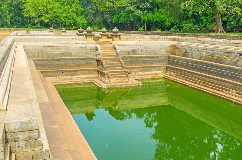Les piscines de la ville sacrée image stock