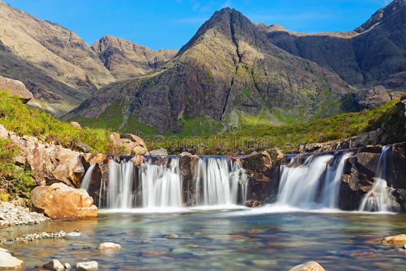 Les piscines féeriques, île de Skye images libres de droits