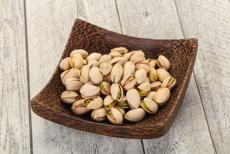 Les pistaches amassent image libre de droits