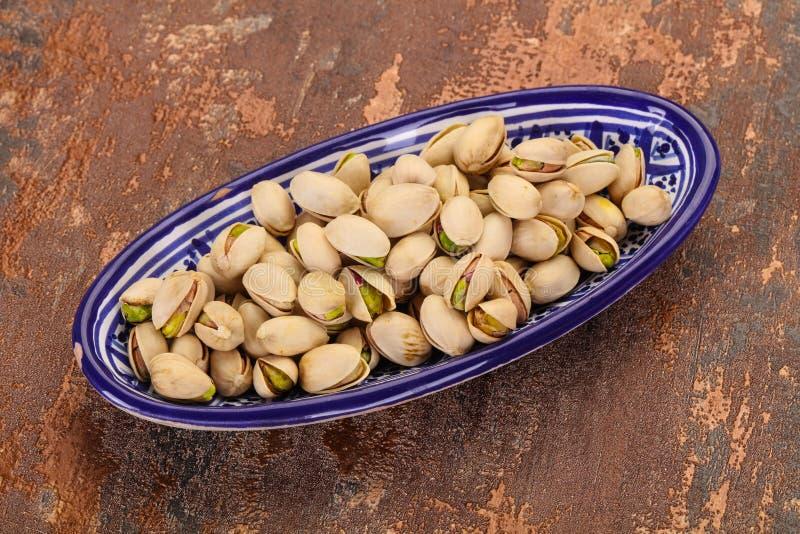 Les pistaches amassent image stock